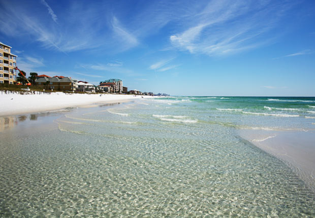 Sandy beach in Destin, FL.