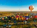 Vista aérea del Albuquerque International Balloon Fiesta, Albuquerque, NM - Principales ciudades de Estados Unidos para visitar en el 2013