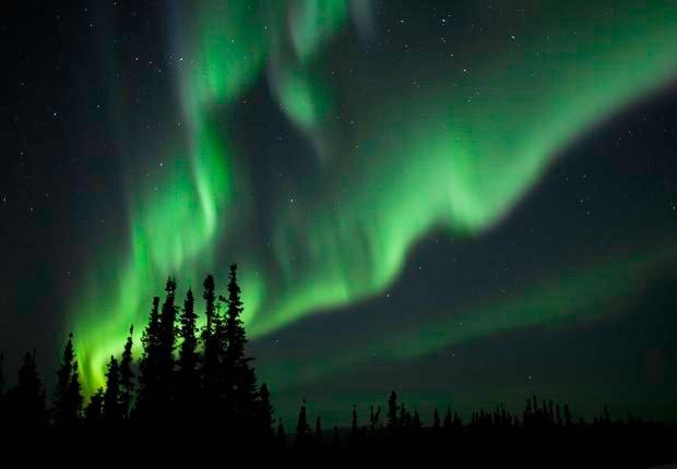 La aurora boreal en Fairbanks, Alaska - Principales ciudades de Estados Unidos para visitar en el 2013