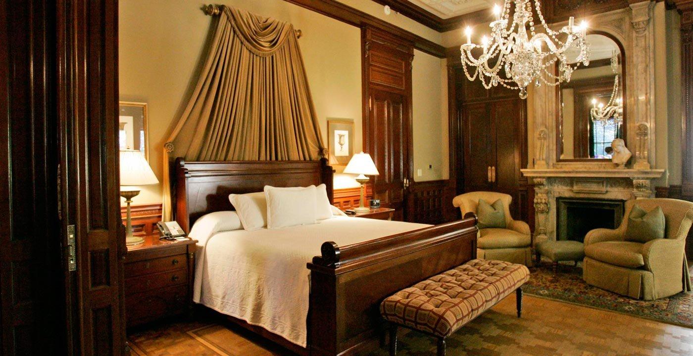 Habitación del Wentworth Mansion, un pequeño hotel de lujo