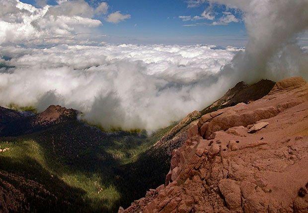 Pikes Peak - 10 lugares en Estados Unidos con vistas increíbles