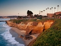 Sunset at Scripps Park in La Jolla, near San Diego. Best multi-generation vacation spots.
