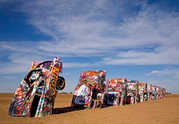 Cadillac Ranch en Amarillo, TX. - 7 Rutas clásicas para pasear en America
