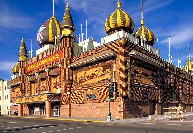 El Palacio de Maíz en Mitchell, Dakota del Sur - 7 Rutas clásicas para pasear en America