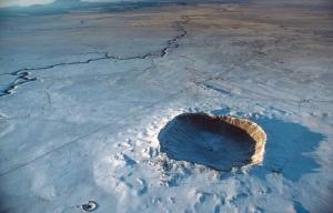 Cráter Meteor es casi una milla de ancho fue originalmente 750 metros de profundidad