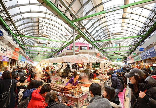 Gwangjang Market in Seoul, South Korea. (Sean Pavone/Alamy)