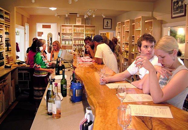 The tasting room of Maui's Winery in Ulupalakua, Maui, Hawaii