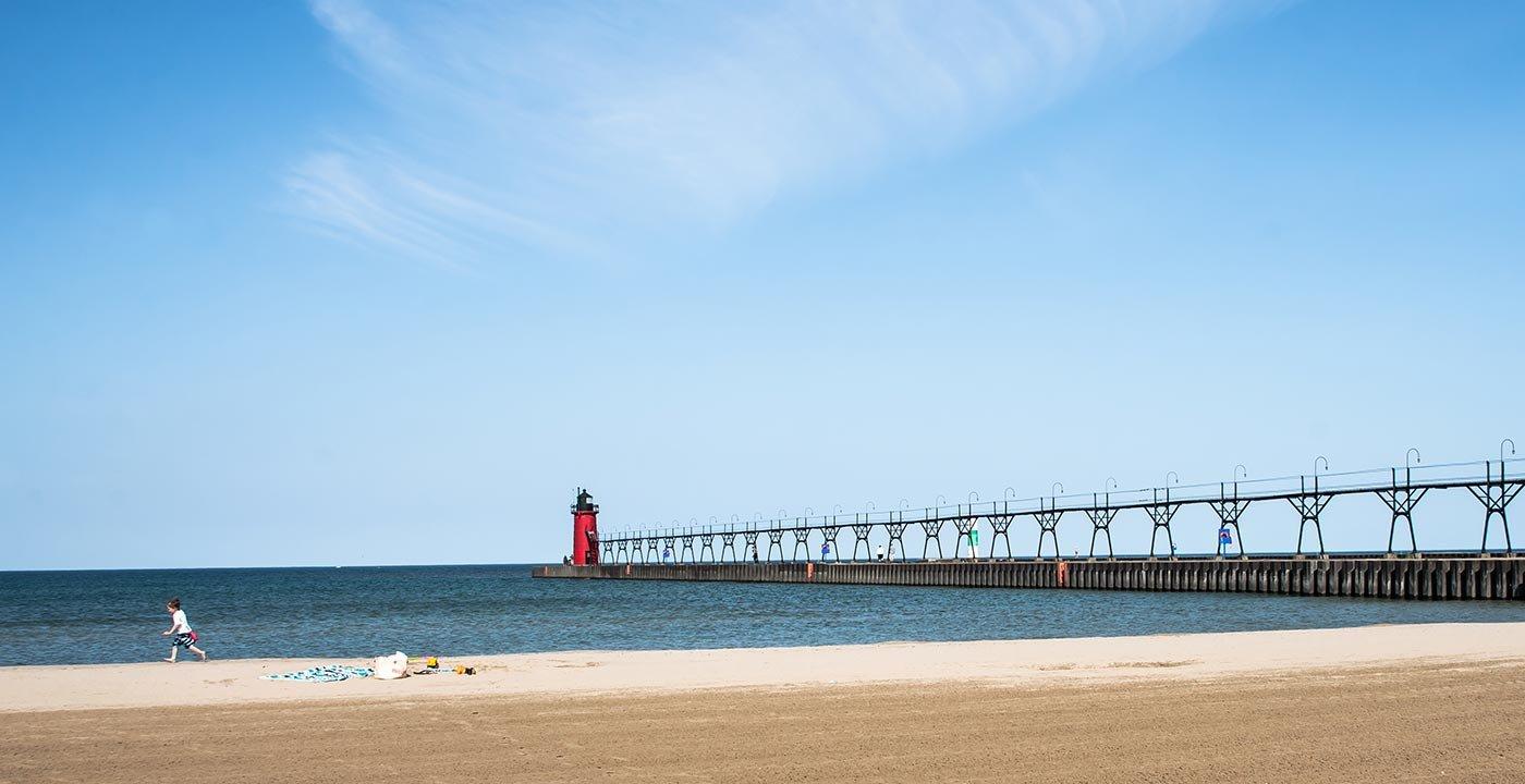Fun on the Coast of Lake Michigan
