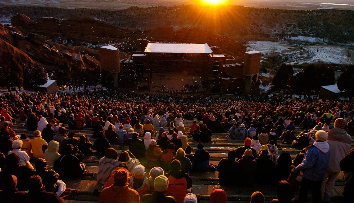 Parque y Anfiteatro Red Rocks, Denver