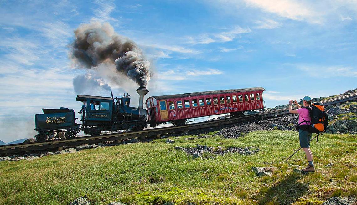 Tren dd cremallera del monte Washington