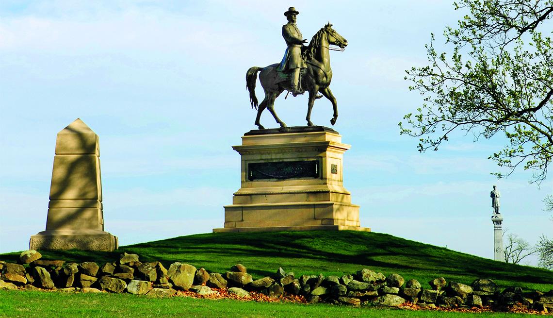 Monumento al general Winfeild Scott Hancock en el cementerio Hill Gettysburg, PA. - Lugares donde se libraron batallas de la Guerra Civil