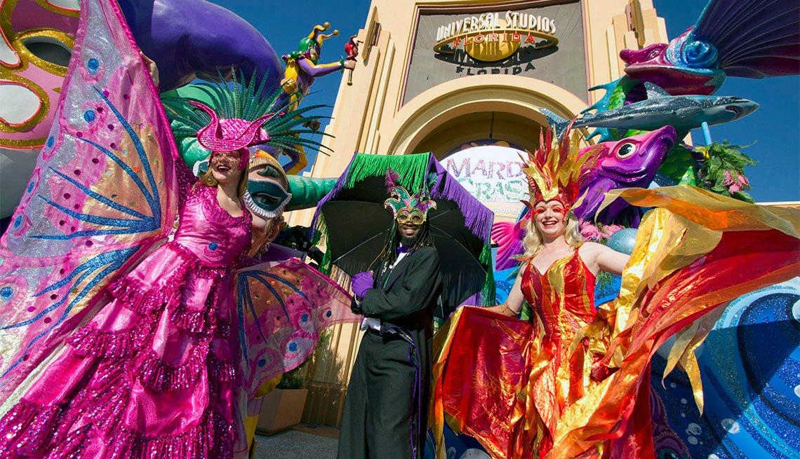 Celebración de Mardi Gras en Orlando, Florida
