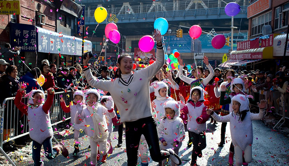 Manhattan's Chinatown celebrates the traditional Chinese New Year, Chinese Lunar New Year