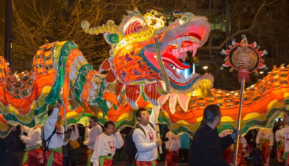 Dragon Dance in San Francisco's Annual Parade, Chinese Lunar New Year