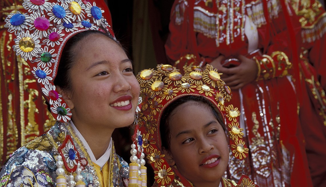 Performers in Traditional Dress in Seattle, Washington, Chinese Lunar New Year