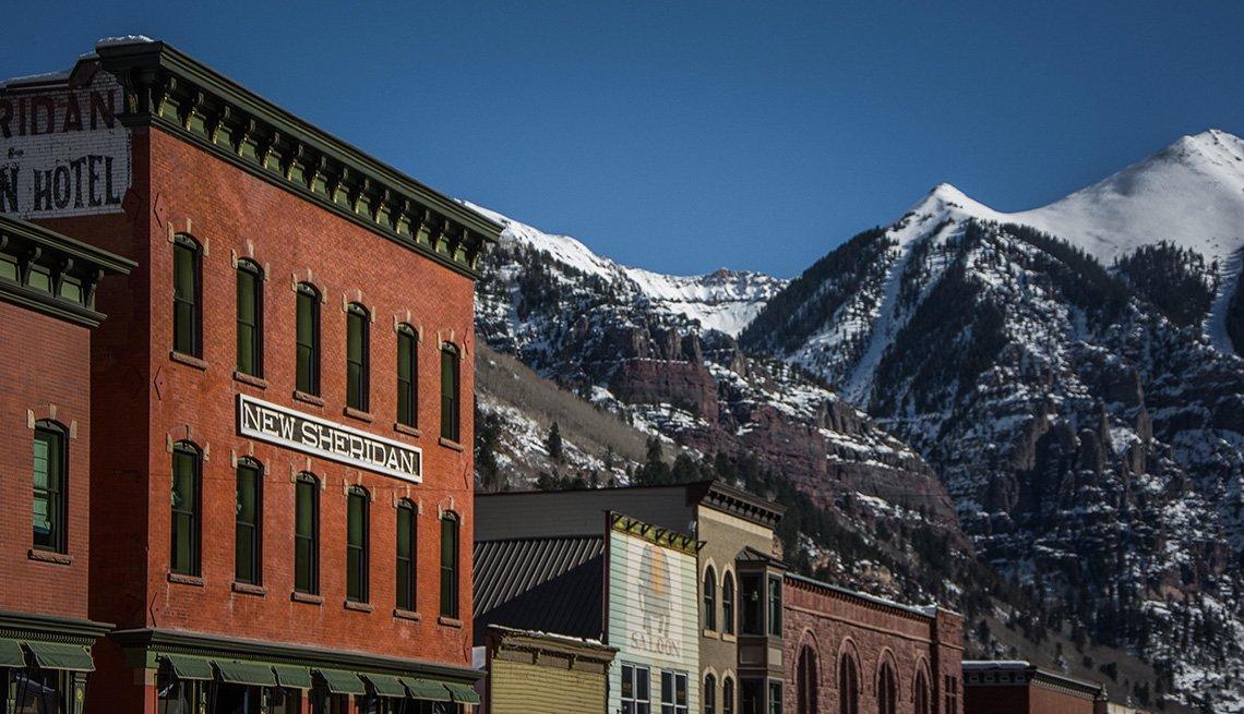 Una tarde de invierno en Telluride, Colorado.