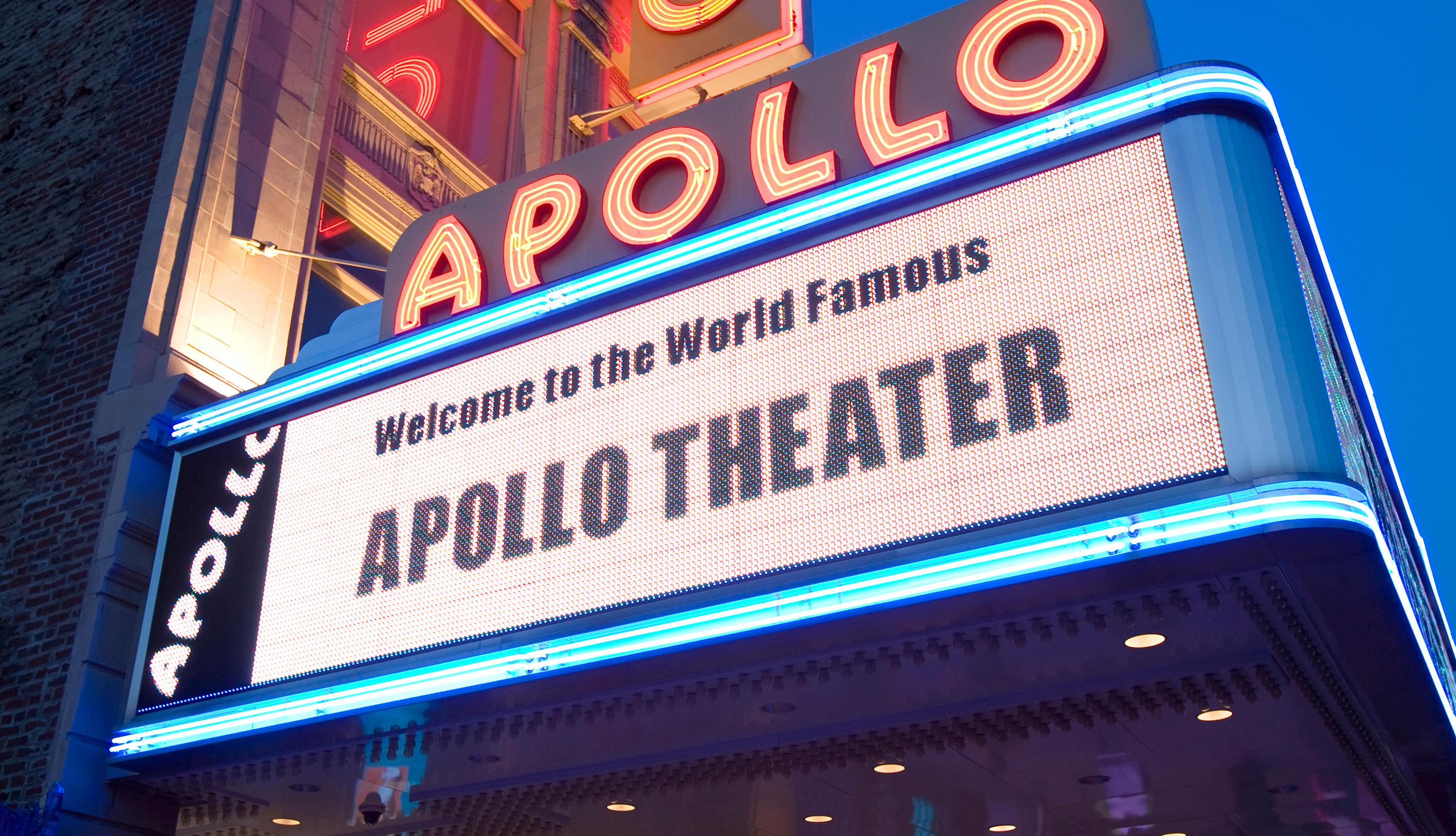 Apollo Theater, en Harlem, Manhattan, Nueva York.