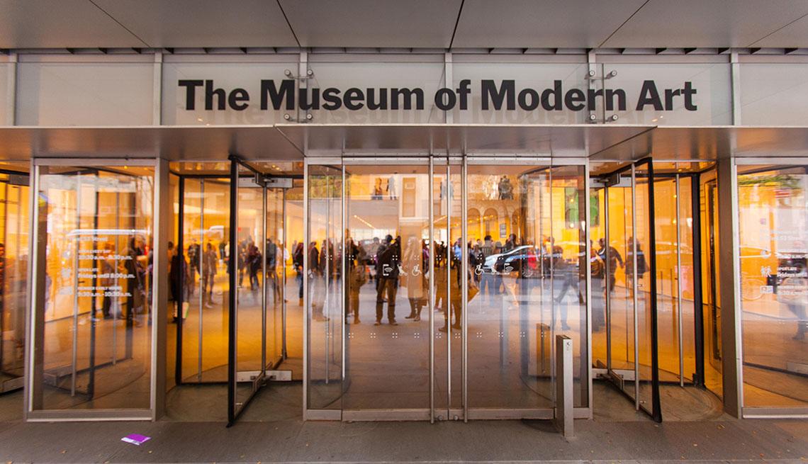Entrada al MOMA, Museo de Arte Moderno de Nueva York.