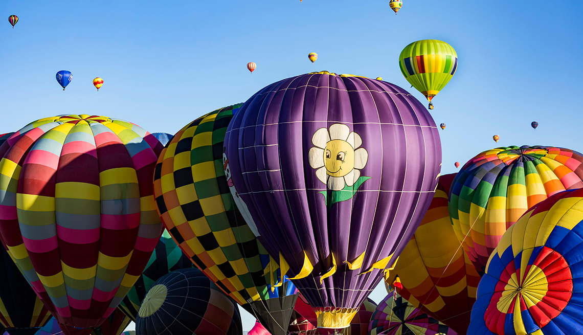 item 11 of Gallery image - multiple balloons at the Albuquerque International Balloon Fiesta