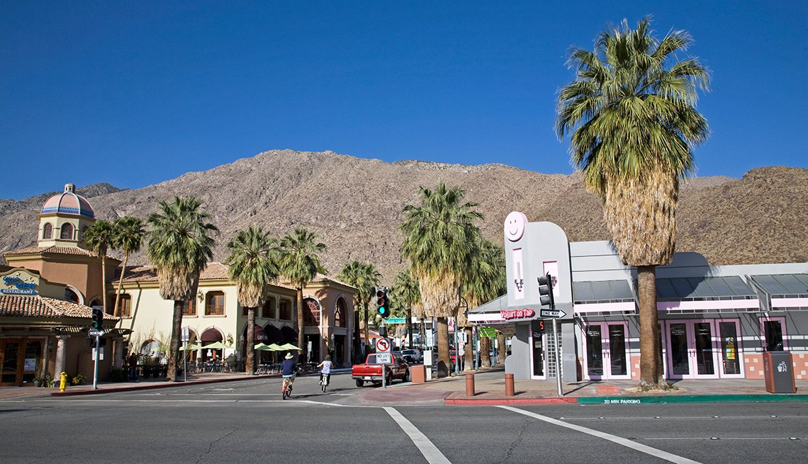 Downtown Palm Springs, California on Indian Canyon Drive