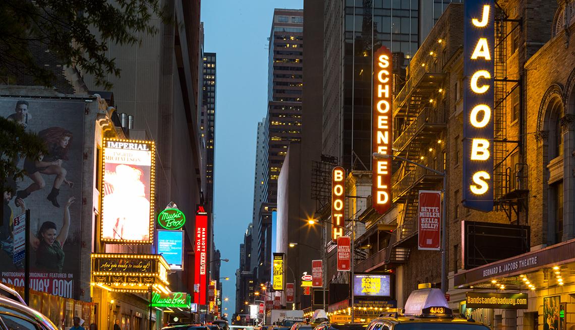 Broadway, Marquees, Midtown, Manhattan, NYC