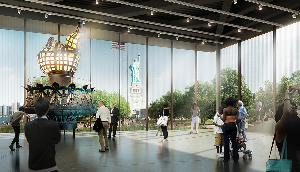 Representación del nuevo Museo de la Estatua de la Libertad