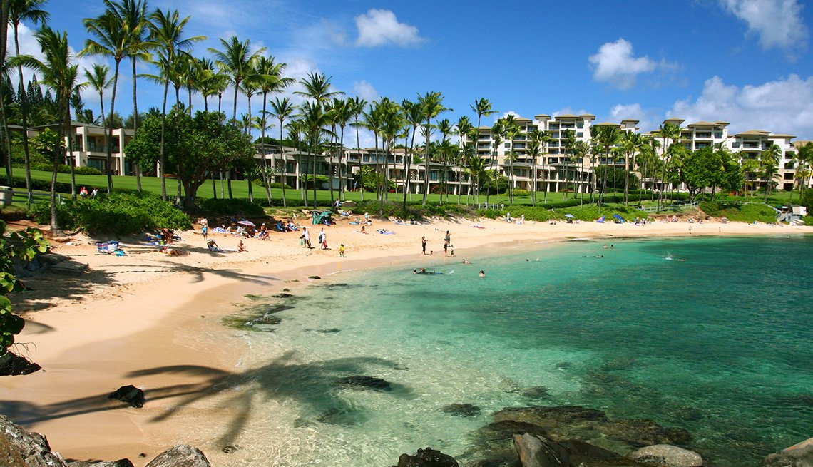 Maui resort along Kapalua Bay Beach