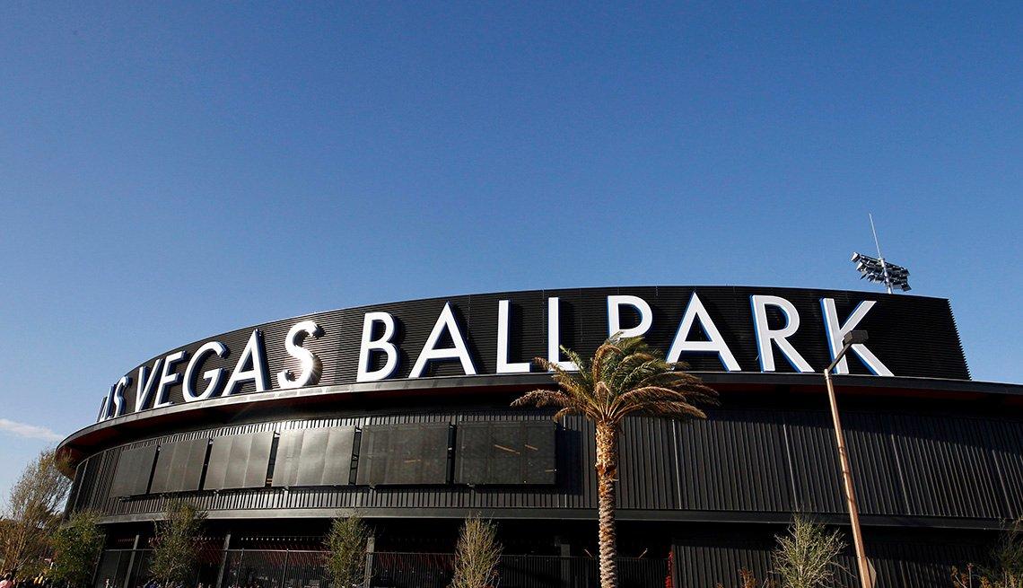 view of the outside of the Las Vegas Ballpark stadium