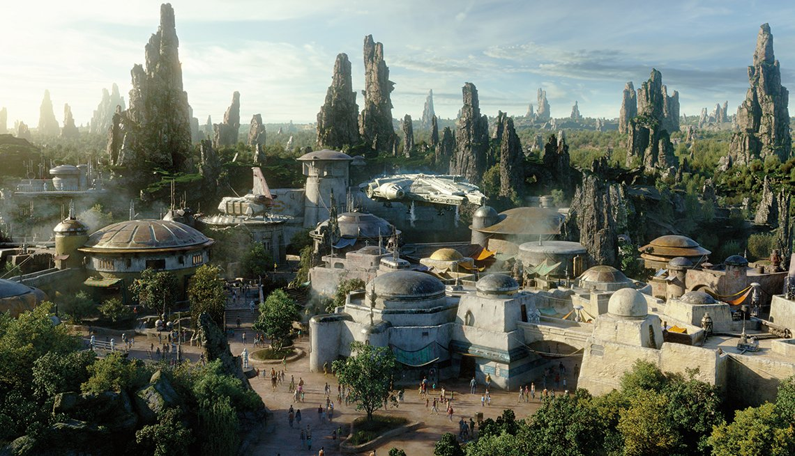 a rendition of Star Wars: Galaxy Edge theme park