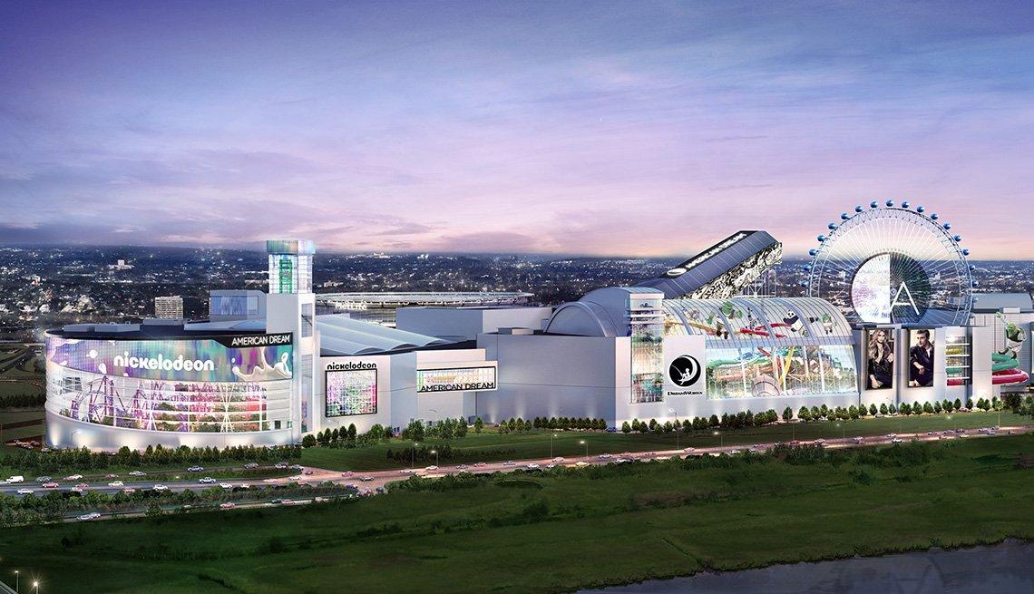 Imagen en perspectiva del American Dream Mall