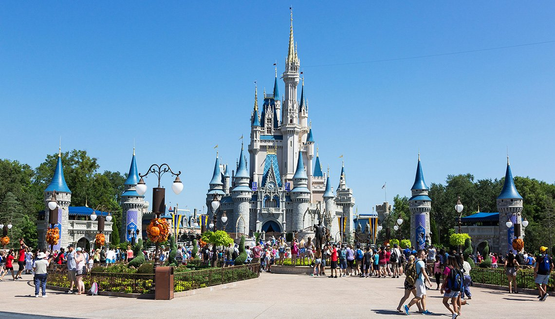 Castillo de Magic Kingdom en Orlando, Florida