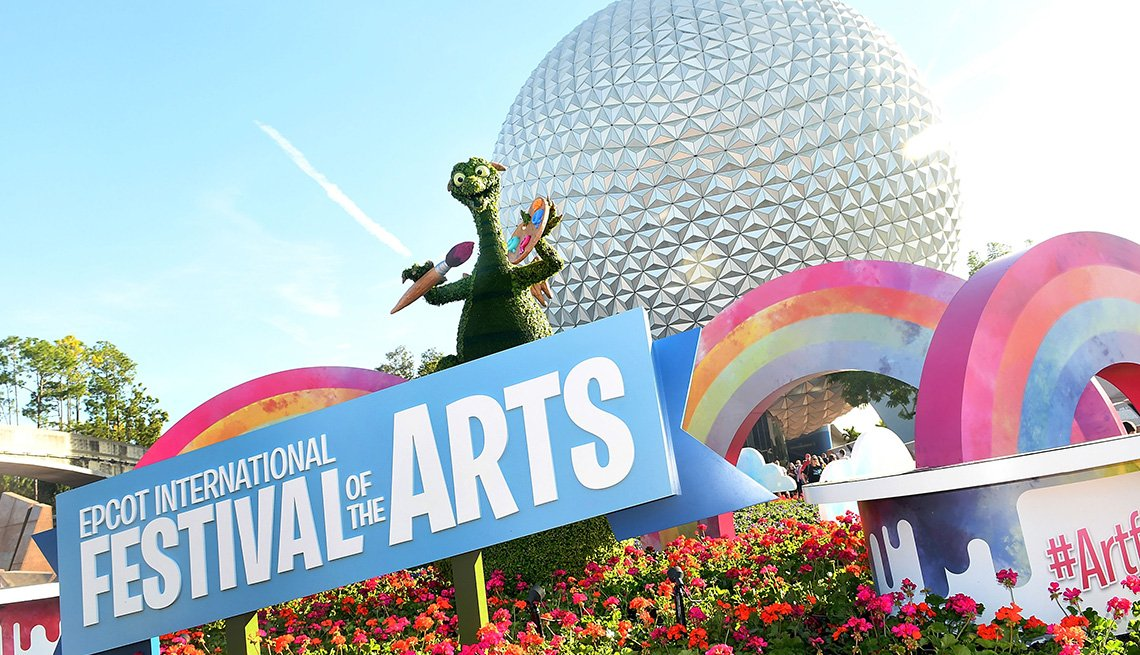 view of the '2019 Epcot International Festival Of The Arts' opening day at Epcot Center at Walt Disney World on January 16, 2019 in Orlando, Florida.