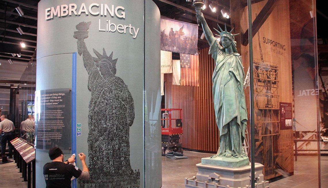 Interior del Museo de la Estatua de la Libertad