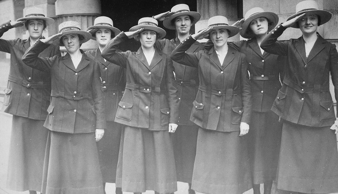 Trabajadoras de la Reserva Naval de Estados Unidos en San Francisco en 1918
