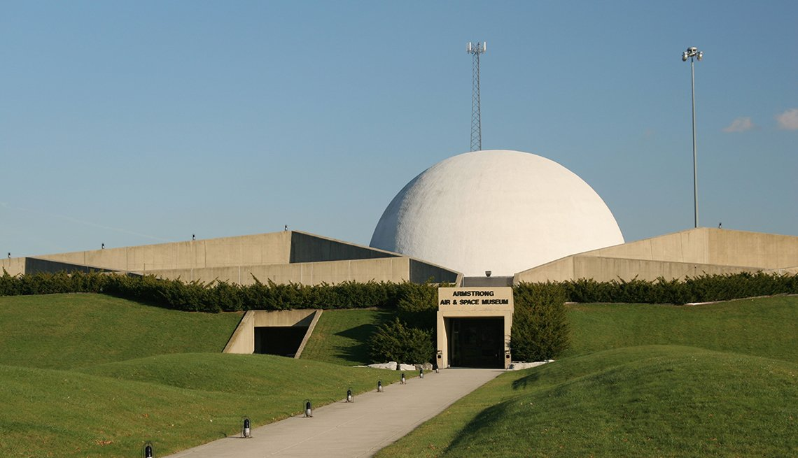 Armstrong Air and Space Museum Entrance to museum for Neil Armstrong Wapakoneta Ohio.