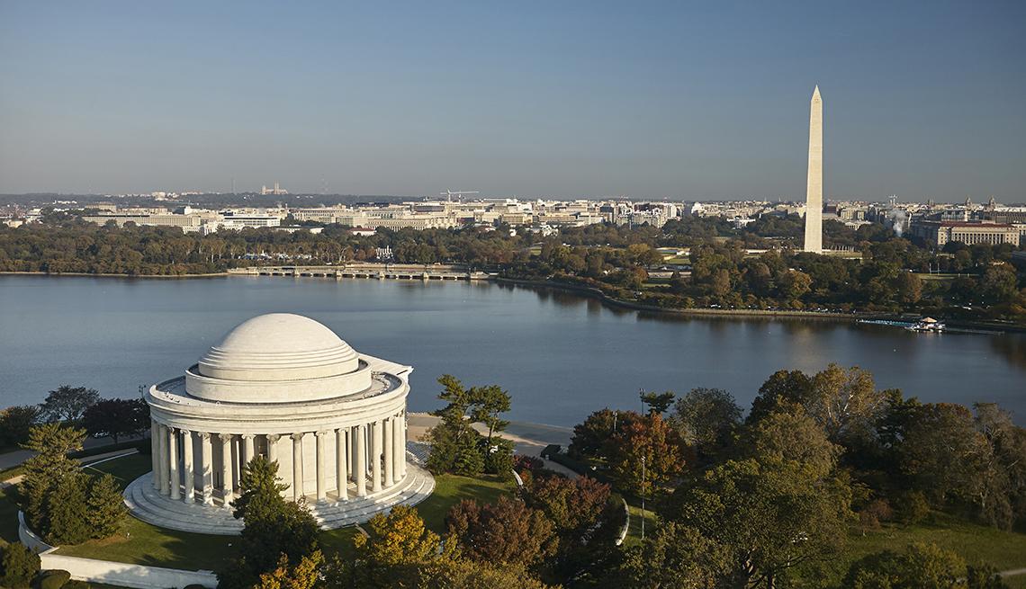 aerial view of Washington, D.C.