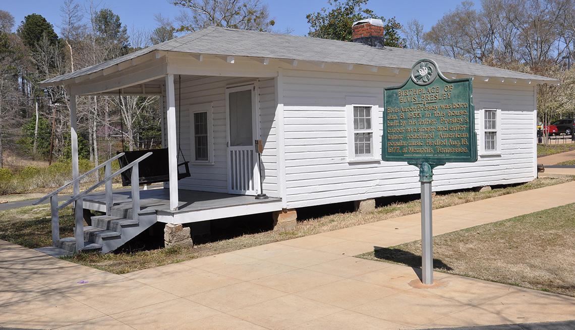 Casa donde nació Elvis Presley en Tupelo, Mississippi