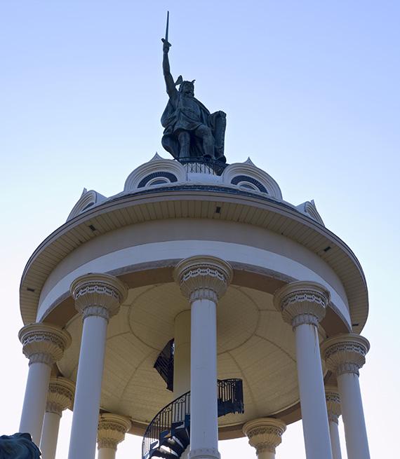 Monument to Hermann the German or Arminius in New Ulm Minnesota
