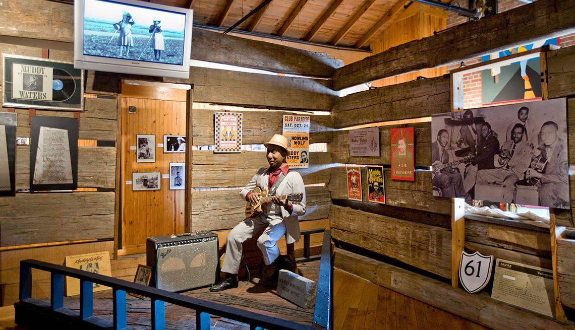 Muestra de Muddy Waters en el Delta Blues Museum, Clarksdale, Mississippi