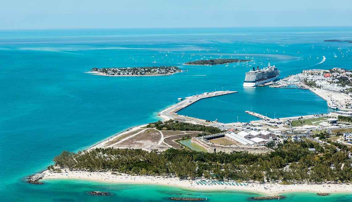 An aerial view of Key West, Florida