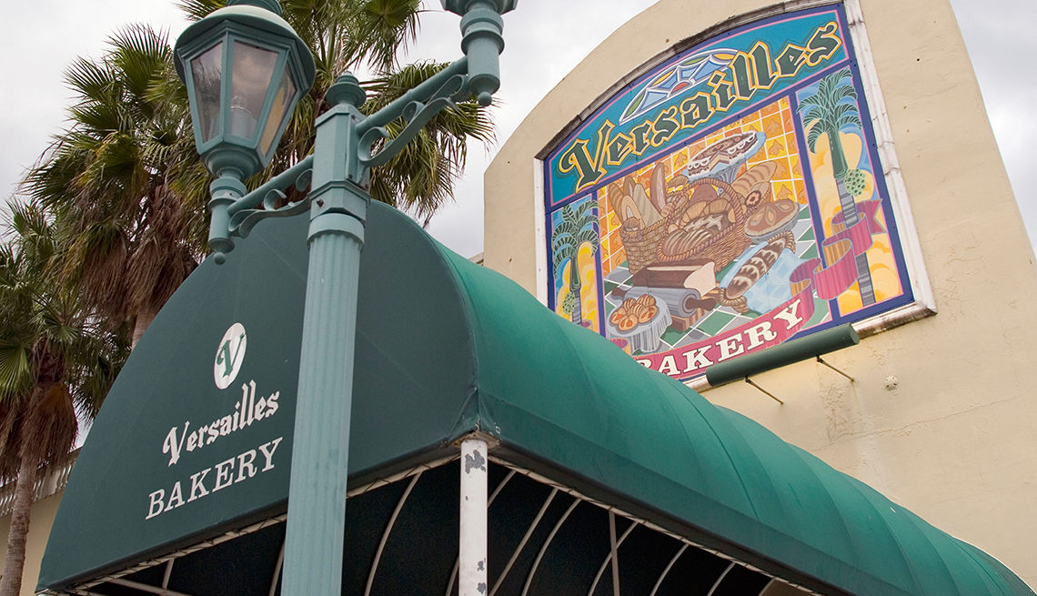 Outside entrance to the Versailles Bakery in Key West Florida