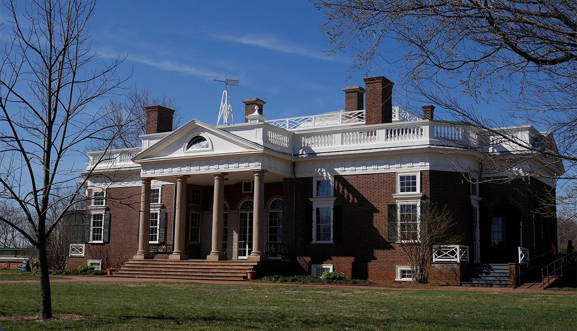 item 5, Gallery image. Monticello, home of Thomas Jefferson in Charlottesville VA