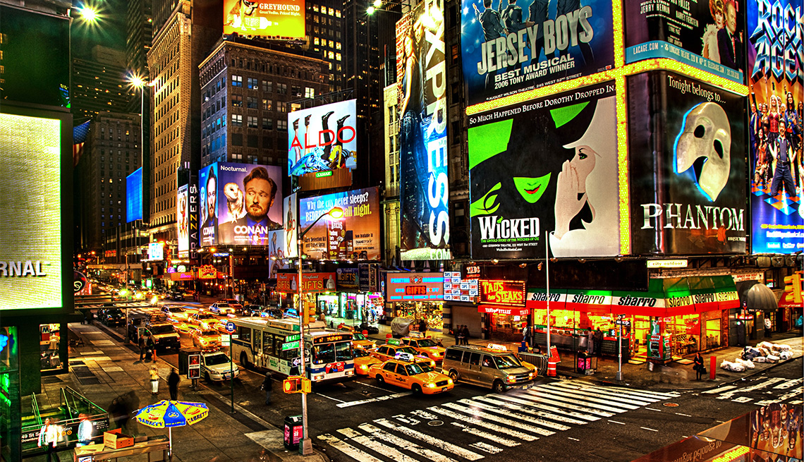 Broadway billboards, NYC