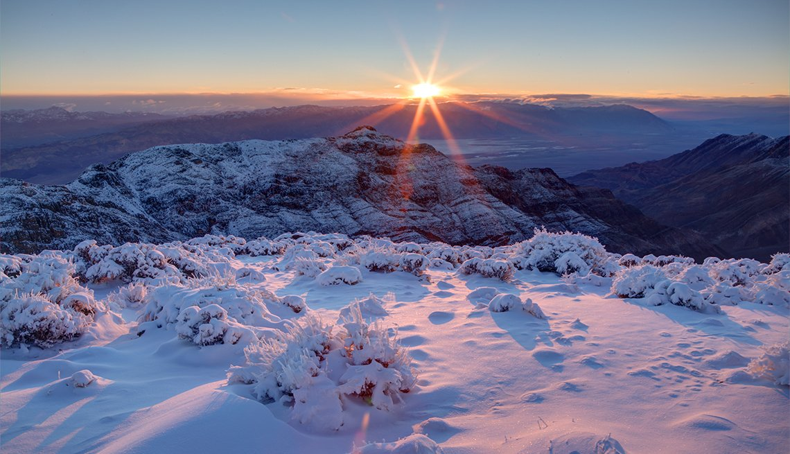 landscape of Death Valley National Park during winter