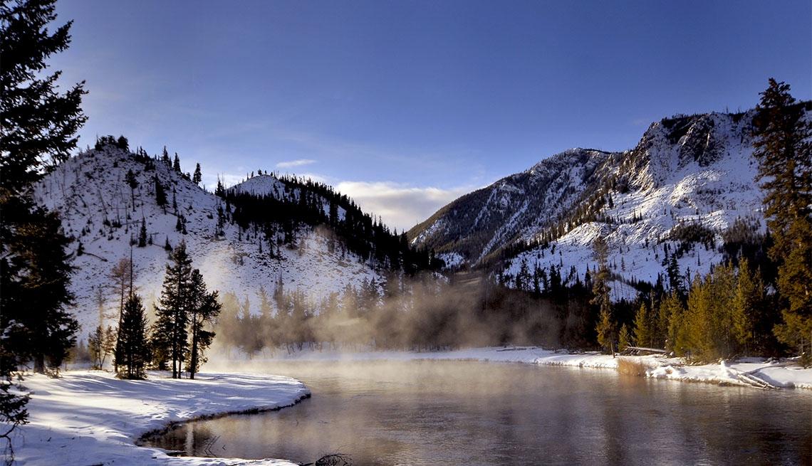 Un río en el Parque Nacional de Yellowstone