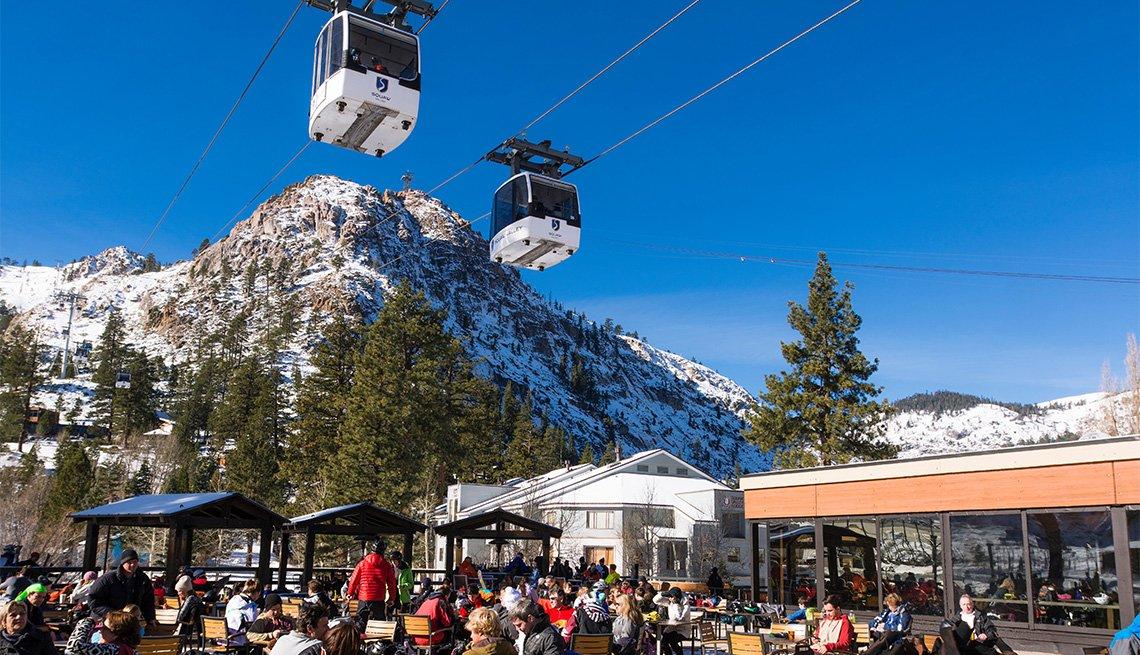 Gondola at the village, Squaw Valley resort, Lake Tahoe, California