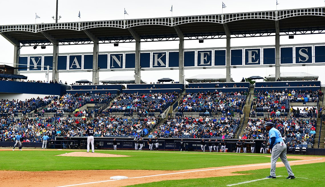 A view of the New York Yankees home field in spring training