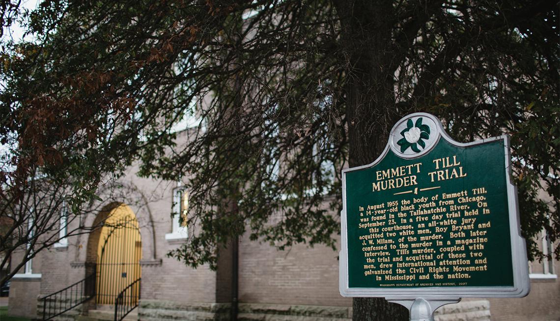 item 7 of Gallery image - Emmett Till Murder Trail plaque in Mississippi