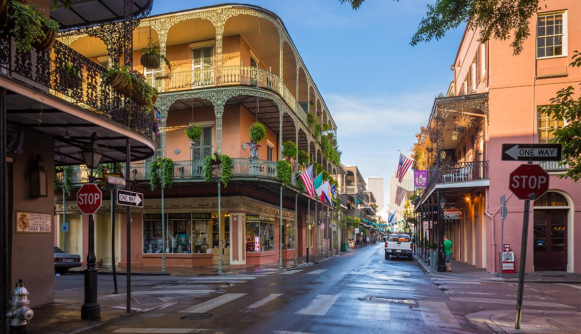 buildings in the French Quarter area of New Orleans, Louisiana