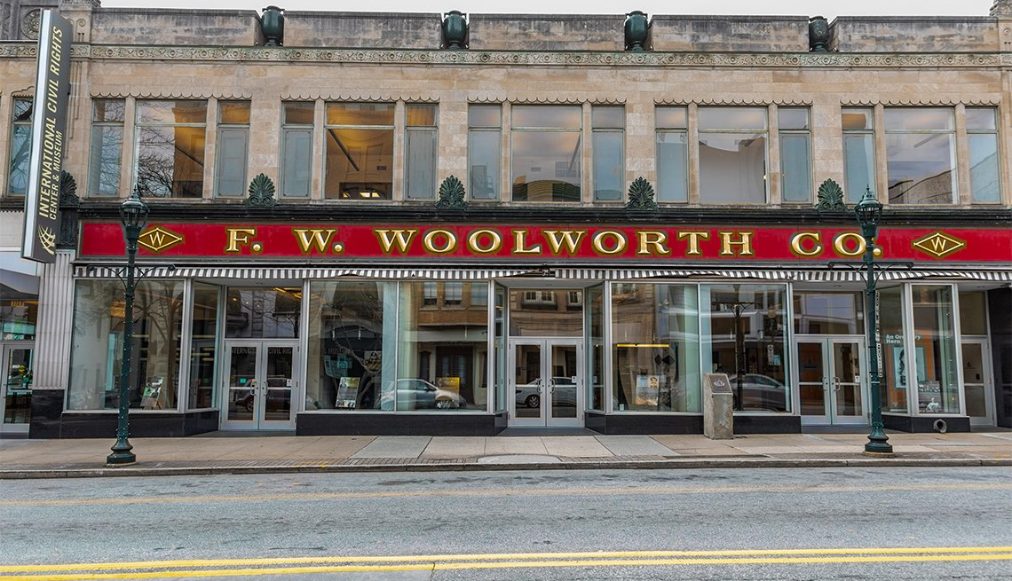 The F W. Woolworth building where the first sit-in for integragtion occurred in 1960